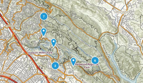 Redwood Regional Park Map