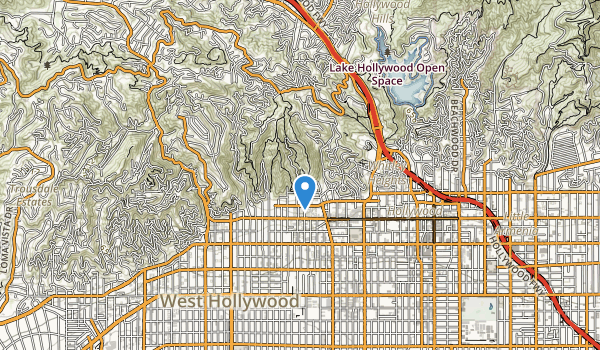 Runyon Canyon Park Map
