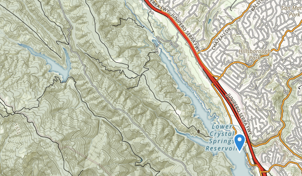 trail locations for San Francisco State Fish and Game Refuge
