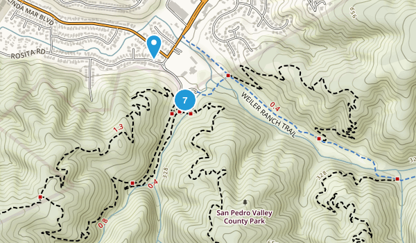 San Pedro Valley County Park Map