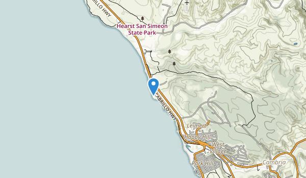San Simeon Beach State Park (historical) Map