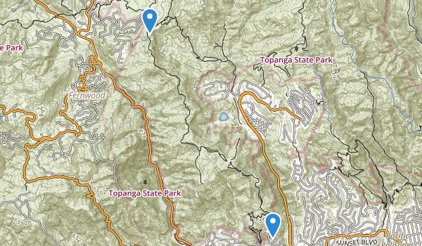 Santa Ynez Canyon Park Map