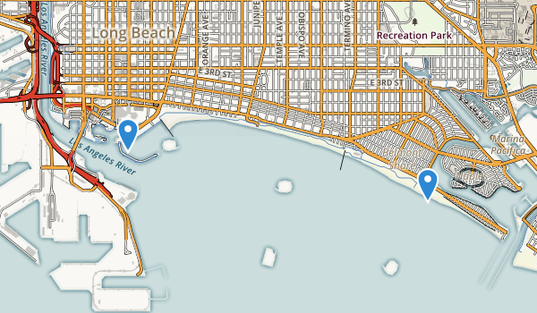 trail locations for Shoreline Aquatic Park