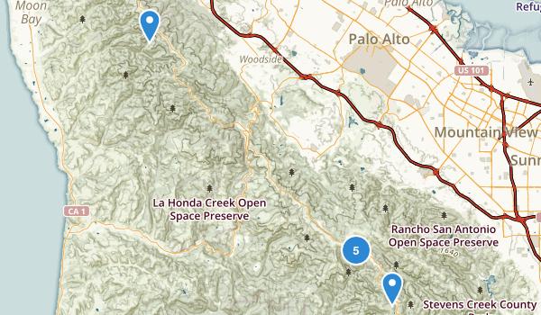 Skyline Ridge Open Space Preserve Map