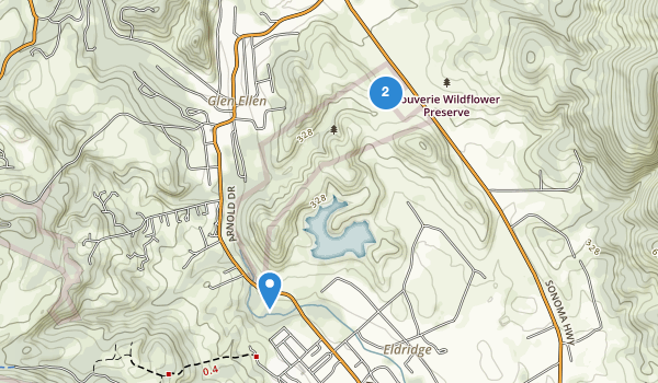 trail locations for Sonoma Valley Regional Park