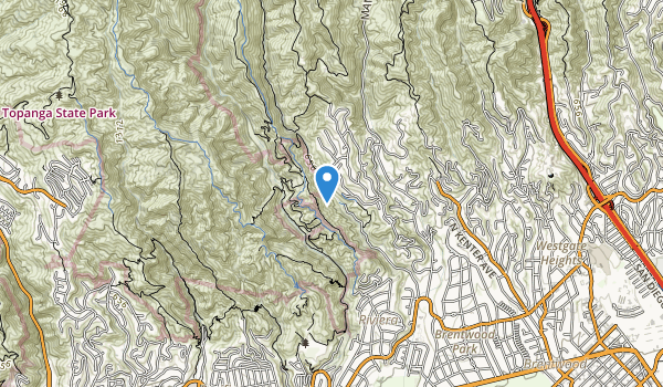 trail locations for Sulivan Canyon Park
