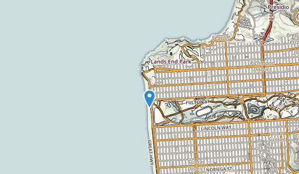 trail locations for Sutro Heights Park
