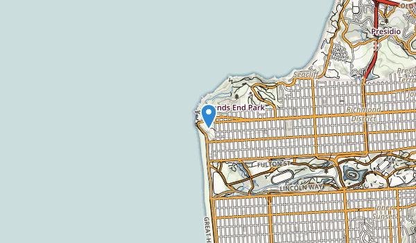 Sutro Heights Park Map