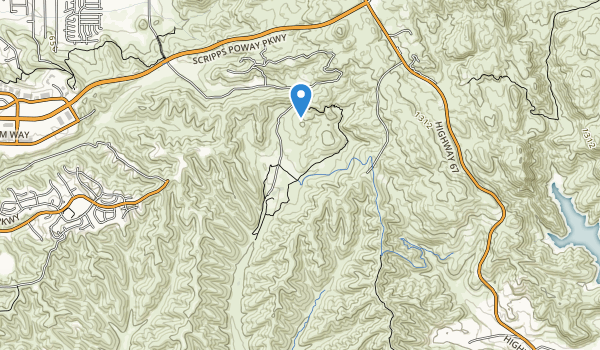 trail locations for Sycamore Canyon Open Space Preserve