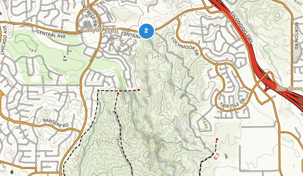 trail locations for Sycamore Canyon Park