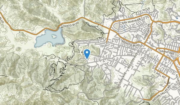 trail locations for Verissimo Hills Preserve