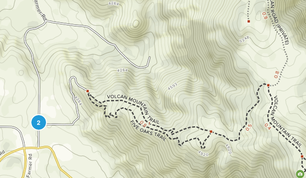 Volcan Mountains Wilderness Preserve Map