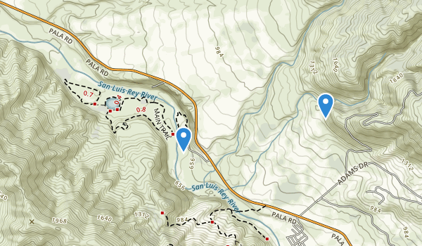 trail locations for Wilderness Gardens Park
