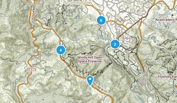 Windy Hill Open Space Map
