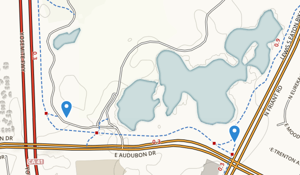 trail locations for Woodward Park