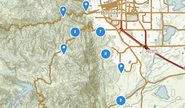 trail locations for Boulder Mountain Park