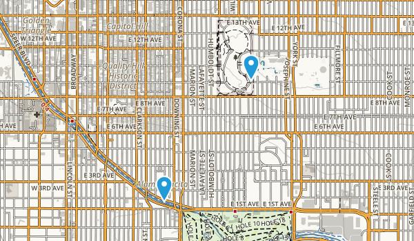 Cheesman Park Map