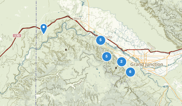 trail locations for Colorado National Monument