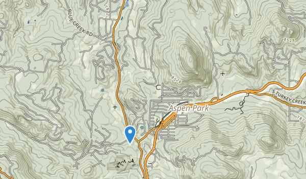 trail locations for Denver Mountain Park Site