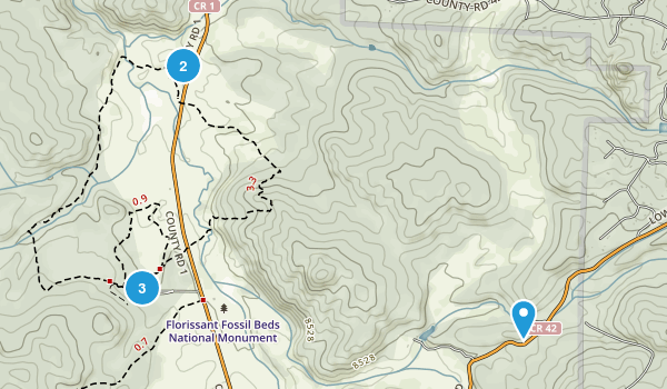 Florissant Fossil Beds National Monument Map