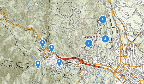 trail locations for Garden of the Gods