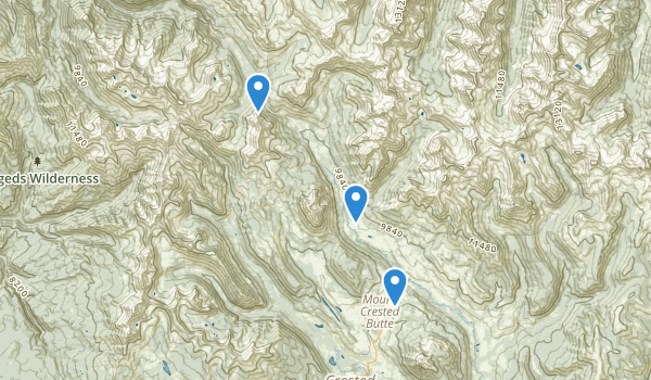 trail locations for Gothic Natural Area