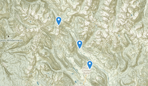 Gothic Natural Area Map