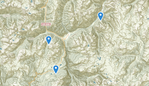 trail locations for Molas Park