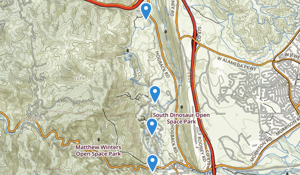 trail locations for Red Rocks Park