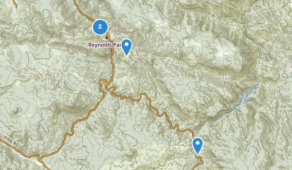 trail locations for Reynolds Ranch County Park