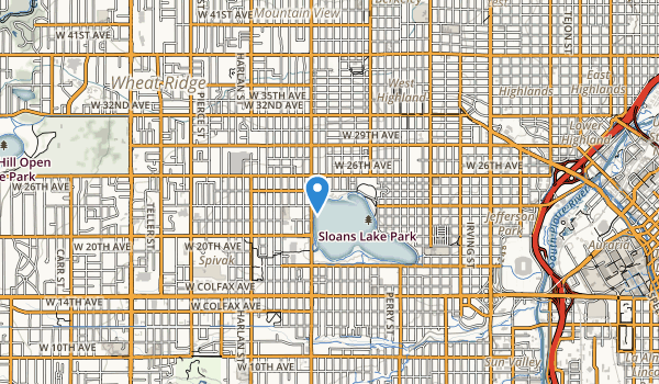 trail locations for Sloans Lake Park
