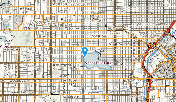 Sloans Lake Park Map
