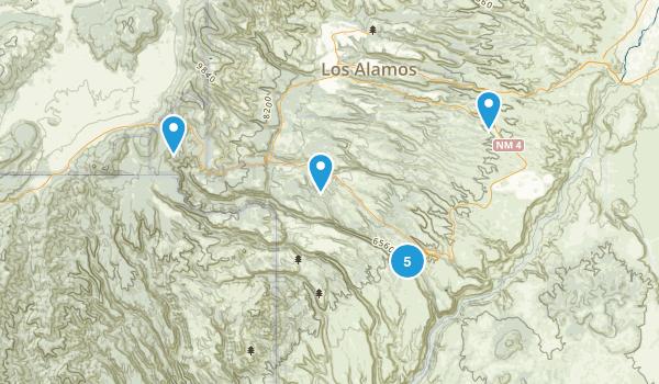 Bandelier National Monument Map