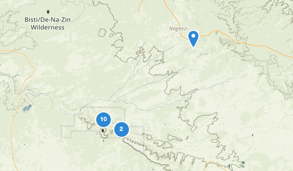trail locations for Chaco Culture National Historical Park