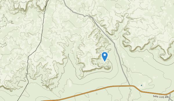 trail locations for La Lena Wilderness Study Area