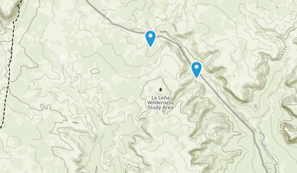 La Lena Wilderness Study Area Map