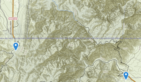 trail locations for McKittrick Canyon Wilderness Study Area
