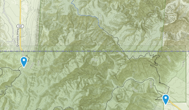 McKittrick Canyon Wilderness Study Area Map