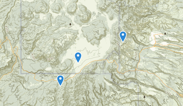 trail locations for Valles Caldera National Preserve
