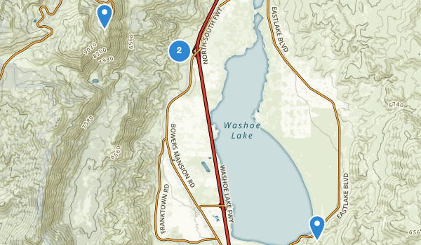 trail locations for Davis Creek County Park