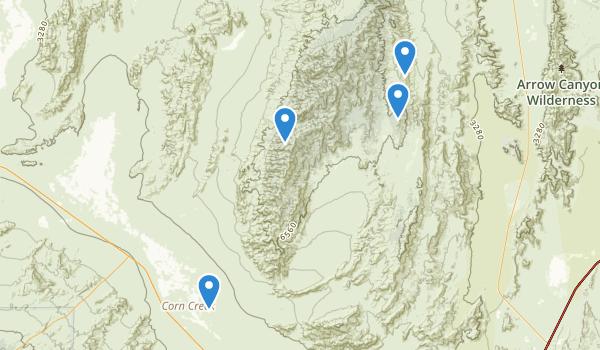 trail locations for Desert National Wildlife Range