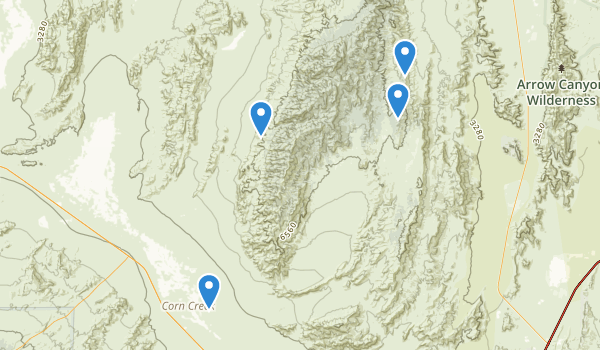 trail locations for Desert National Wildlife Range
