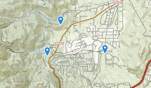 trail locations for Galena Creek County Park