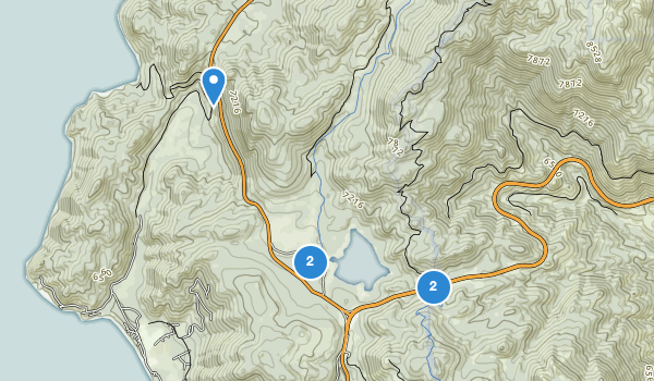 trail locations for Spooner Lake Management Area