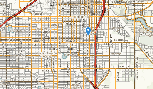 trail locations for Clapp Park