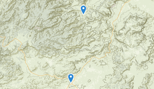 trail locations for Fort Davis National Historic Site
