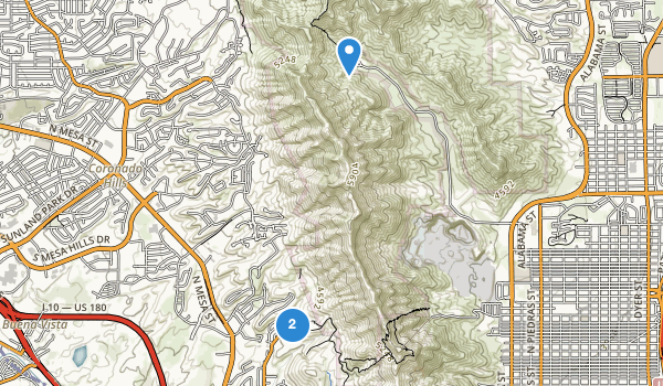trail locations for McKelligon Canyon City Park Area