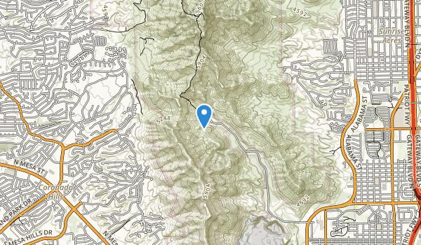 trail locations for McKelligon Canyon City Park Area