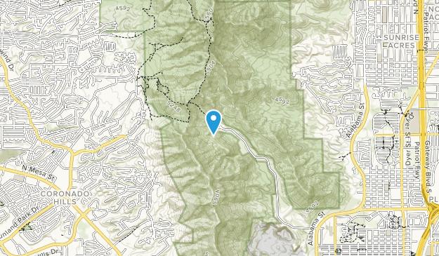 McKelligon Canyon City Park Area Map