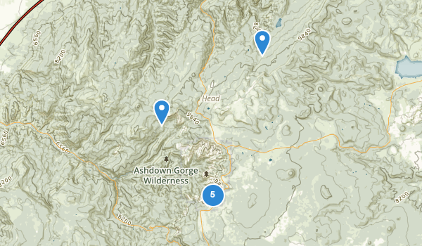 trail locations for Cedar Breaks National Monument